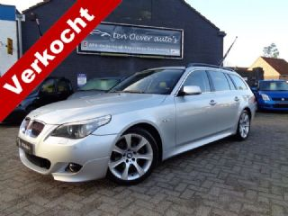 BMW 5 Serie Touring 525i HIGH EXECUTIVE AUTOMAAT / YOUNGTIMER / M-PAKKET / LEDER / CRUISE / CLIMATE / DVD-NAVI-FULLMAP / 18